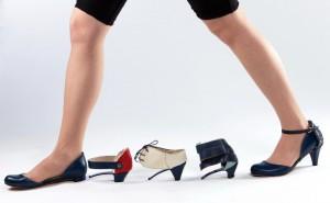 Sapatos que se transformam.