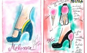 Melissa divulga croquis assinados por Karl Lagerfeld