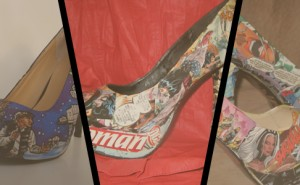 Veronica Birch cria sapatos de histA?rias em quadrinhos!