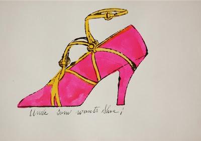Os sapatos de Andy Warhol!   Sapatos Femininos - Últimos modelos das ... 80f8a0329e