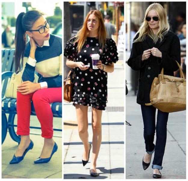 Trend Sapatilha De Bico Fino Sapatos Femininos