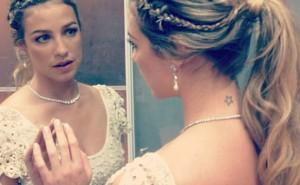 Luana Piovani usa sapatilha exclusiva no seu casamento!
