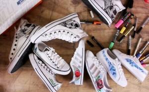 Netshoes oferece tênis customizados pelo artista plA?stico DAL