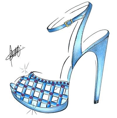 Sapato desenhado para Samuel Cirnansck